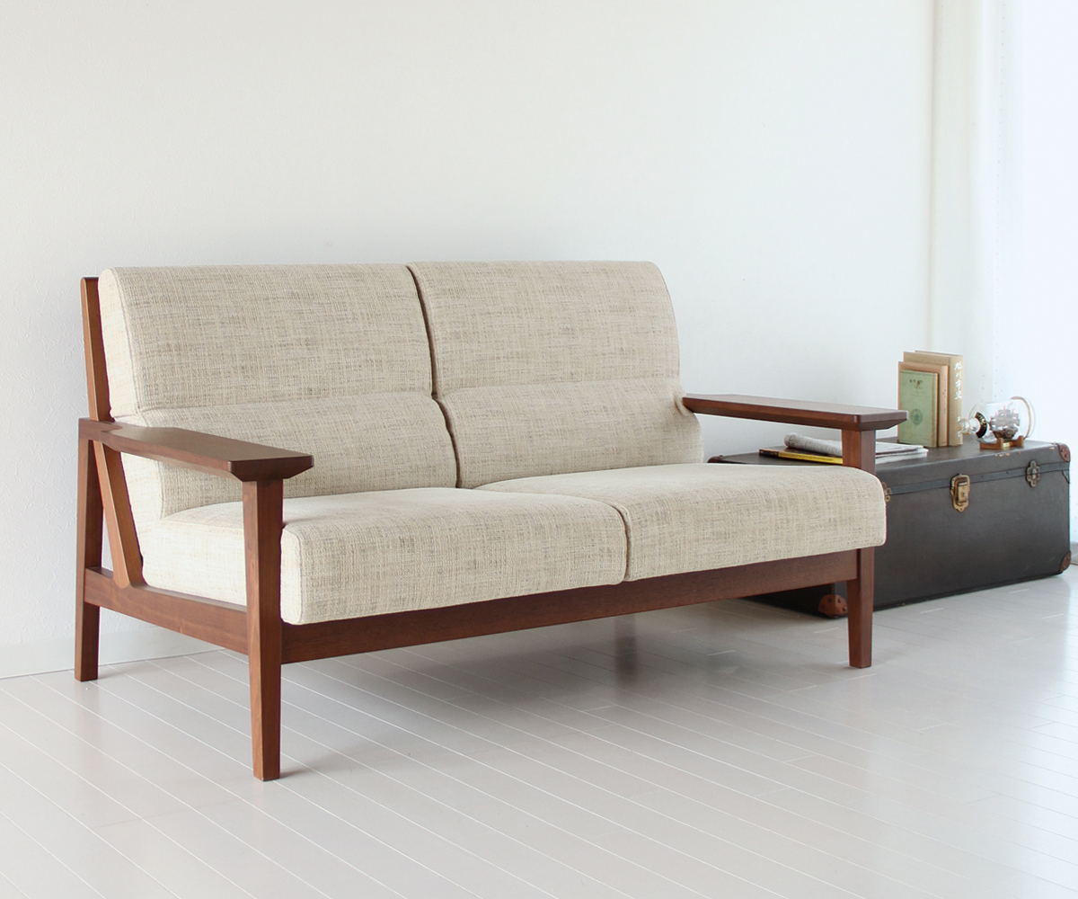 solid furniture 2 seater sofa of japan production (2p)   mail order